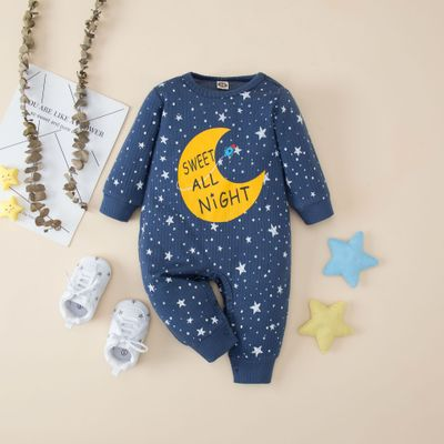 Star Moon Print Jumpsuit