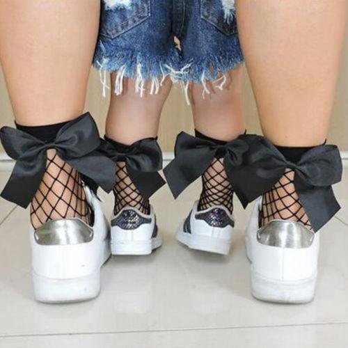 Mesh Bow Socks