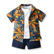 3pcs Vacation Short-sleeve Set