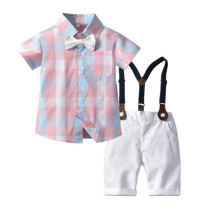Print Bow Polo T-shirt Set