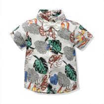 Floral Print Short T-shirt