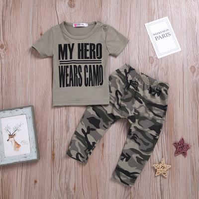 2pcs Camouflage Letter Set