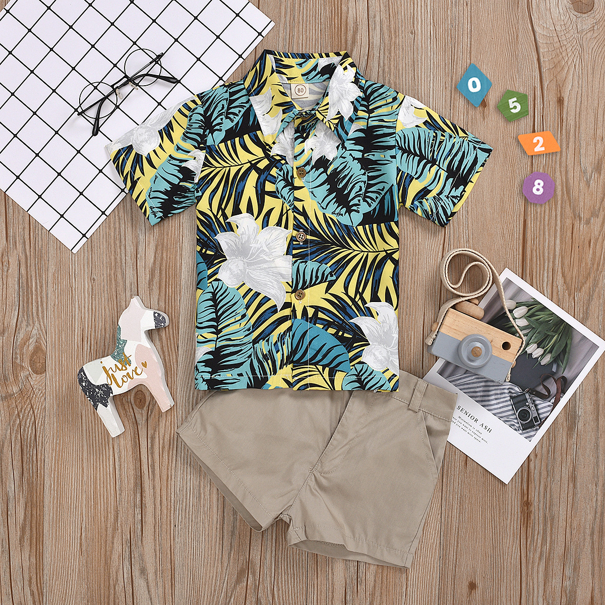 2pcs Leaf Polo set