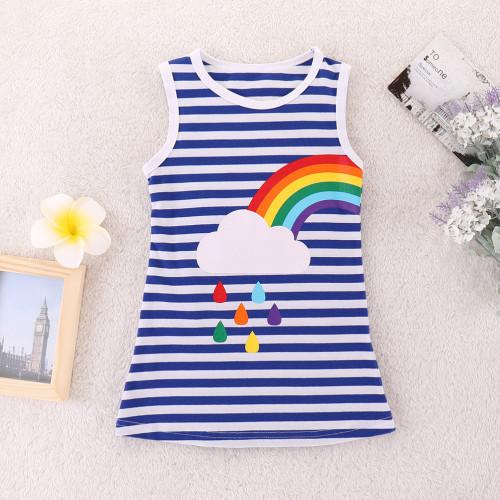 Stripe Rainbow Print Dress