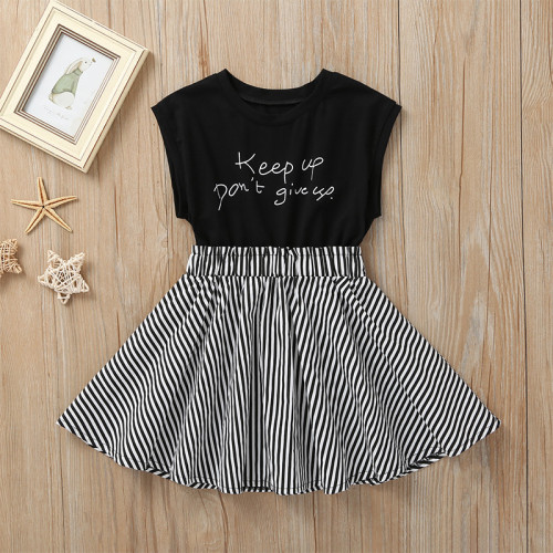 Letter Stripe Dress