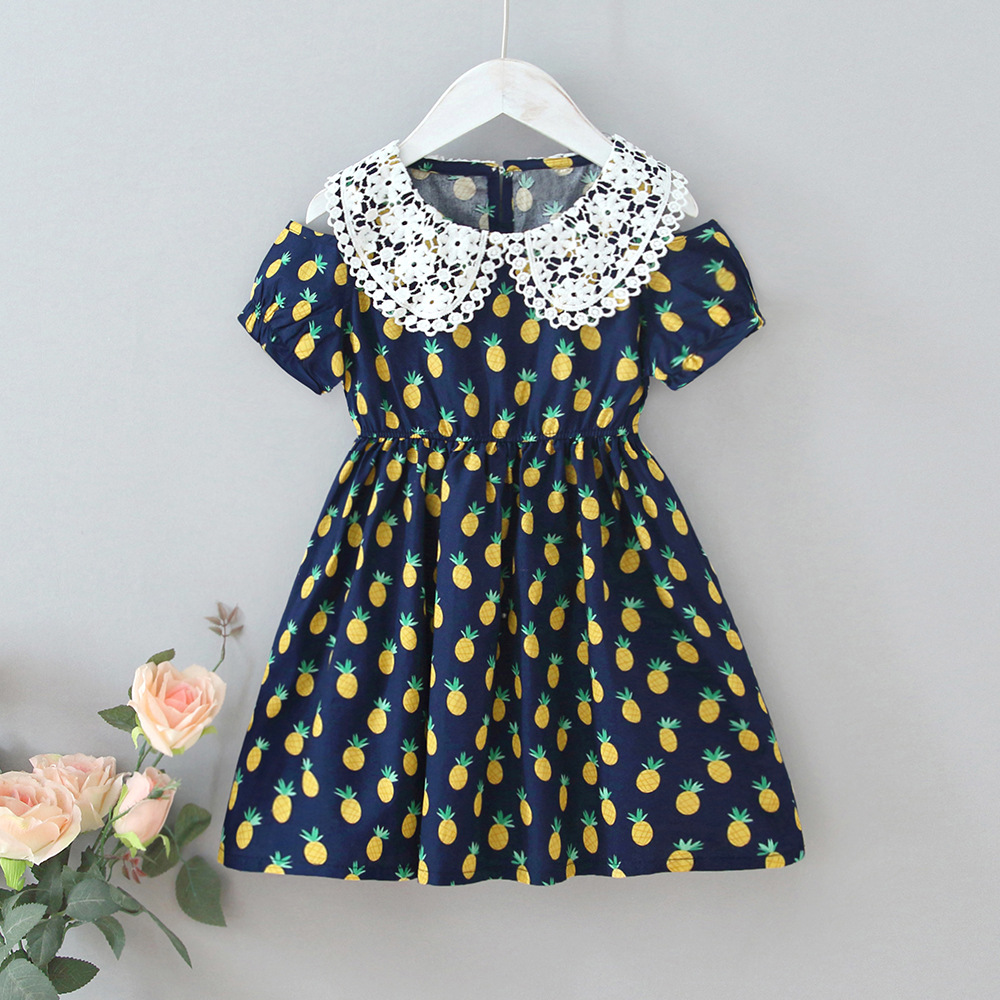 Lace-collar Fruit Dress