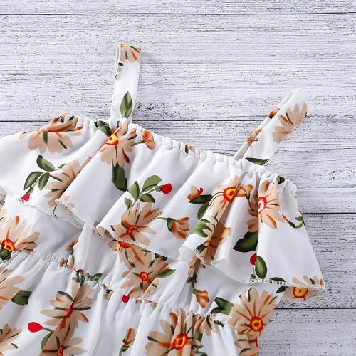 Ruffle Floral Print Jumpsuit