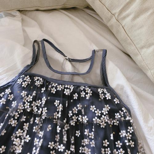 Sleeveless Mesh Dress