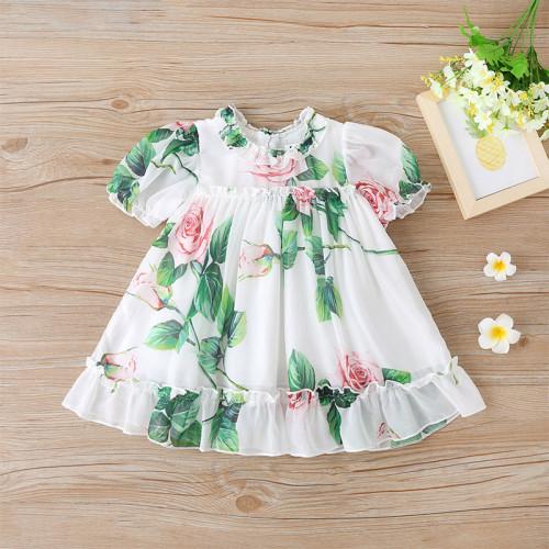 Floral Print Short-sleeve Dress