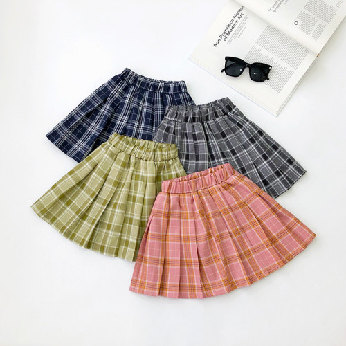 Plaid Pleated skirt
