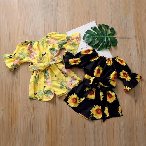 Floral Print Bow Jumpsuit