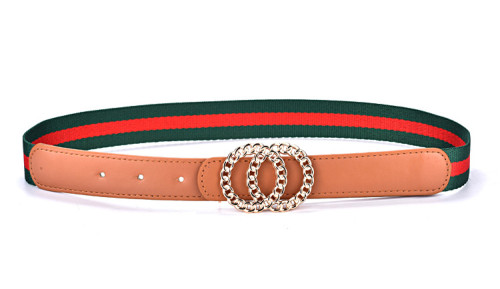 Stripe Pu Belt