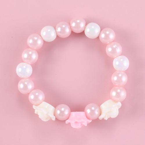 Acrylic Pearl Flower Bracelet