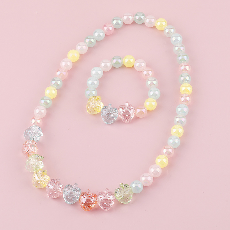 Crystal Strawberry Necklace Bracelet