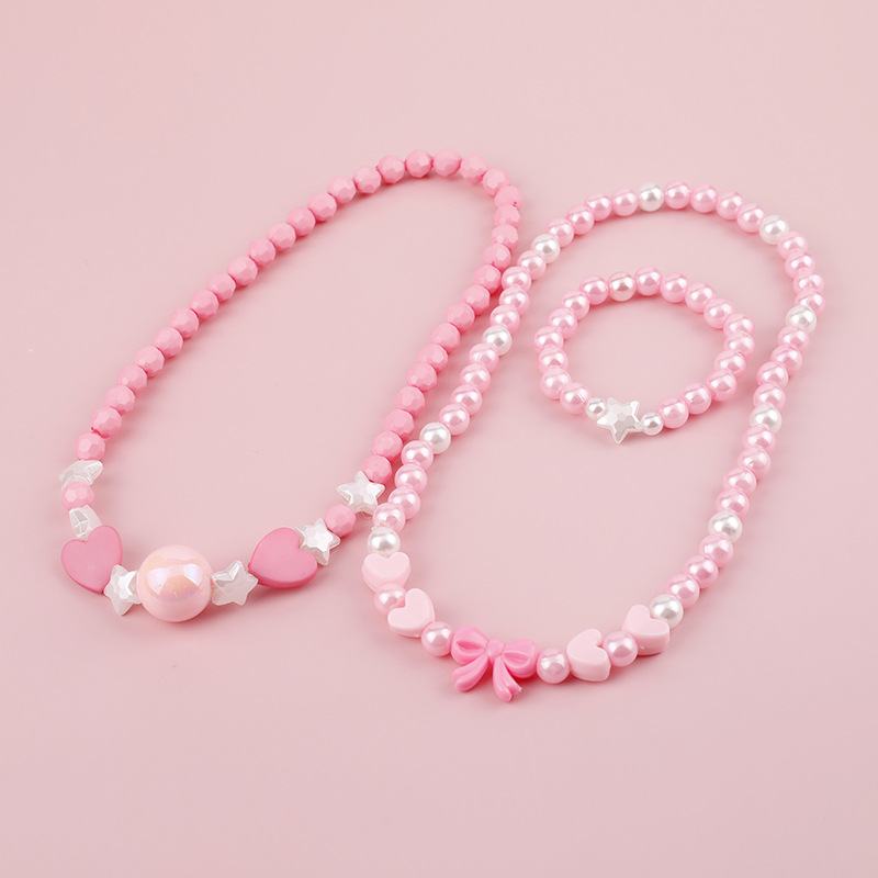 Acrylic Imitation Pearl Necklaces