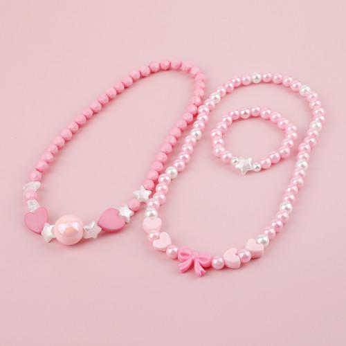 Acrylic Imitation Pearl Necklaces