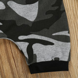 Camouflage Hoodie Short Set