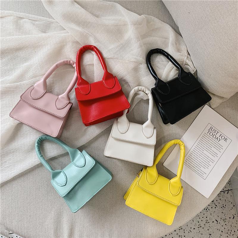 Candy Color Portable Shoulder Bag
