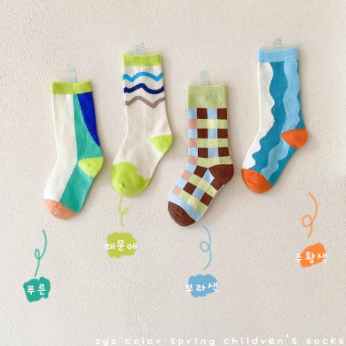 4pcs Color Matching Socks