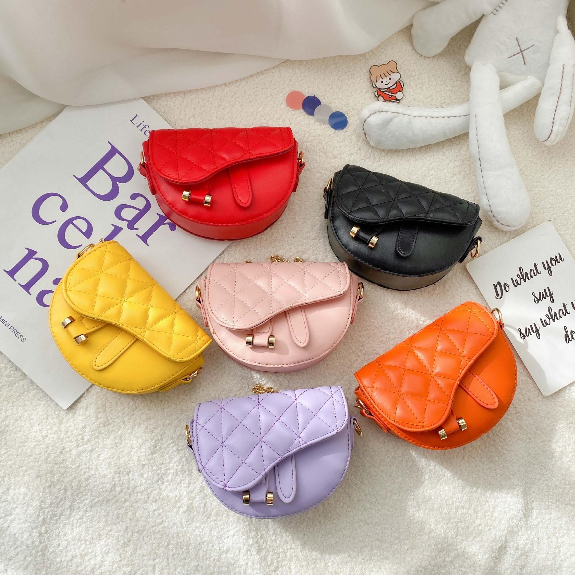Children's Rhombic Crossbody Bag