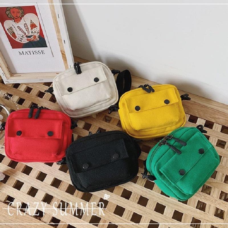 Multi Color Canvas Straddle Bag
