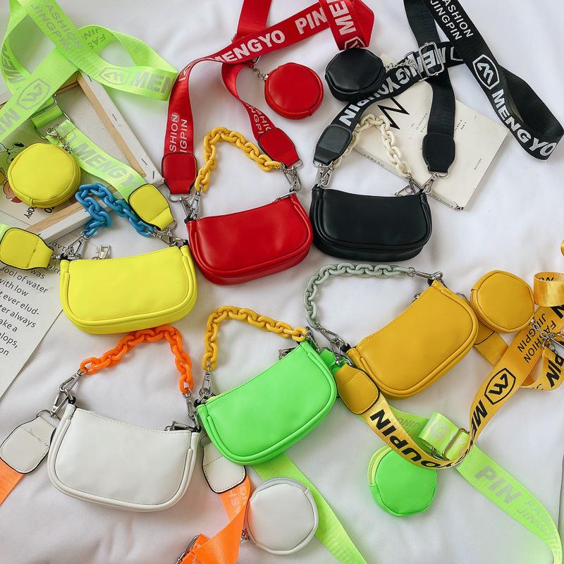 Fluorescent Shoulder Messenger Bag