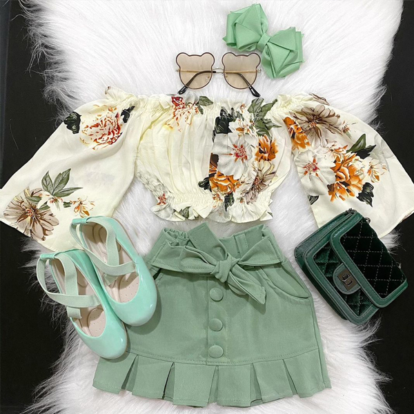 Floral Print Long sleeve Set