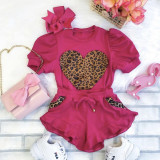 2pcs Leopard Puff Set
