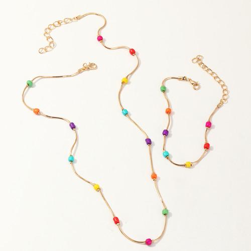 Bohemian necklace and Bracelet Set