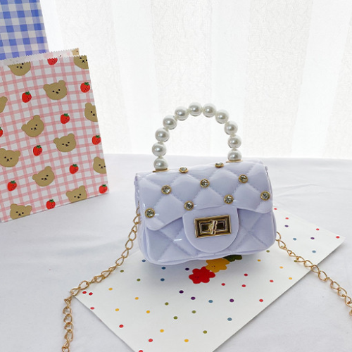 Checkered pearl Handbag Shoulder Bag