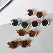 Round leopard print color matching Sunglasses