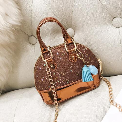 Shiny shell handbag