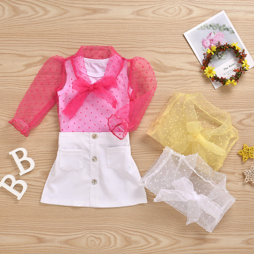 3pcs Mesh Bow Set