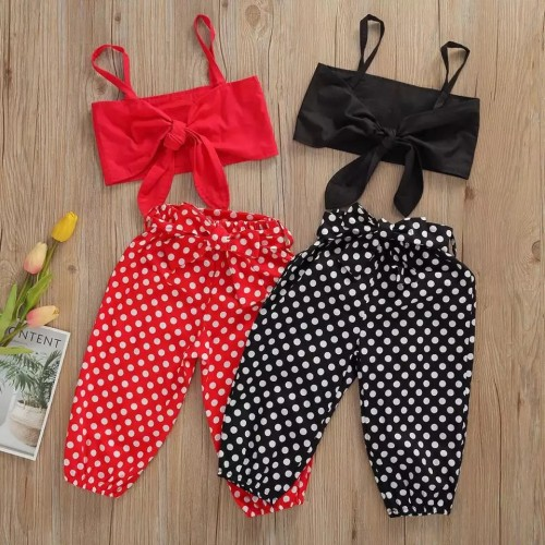 Polka dot Bow Set
