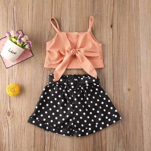 Bow Polka dot Jumpsuit