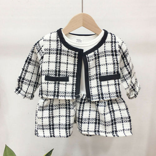 2pcs Plaid Set