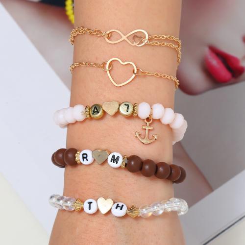 爱心字母手链