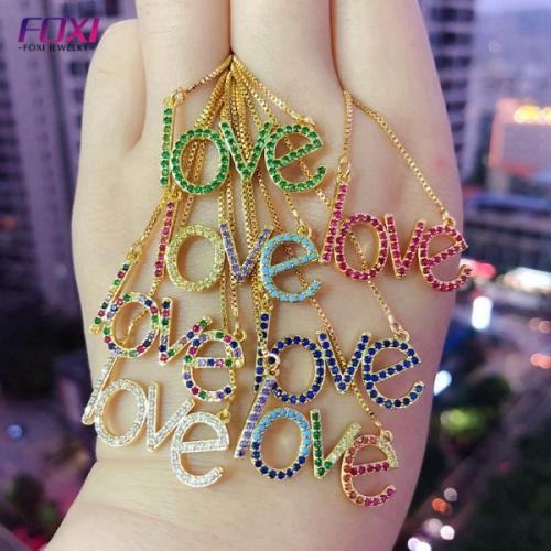Love Colorful Zircon Necklace