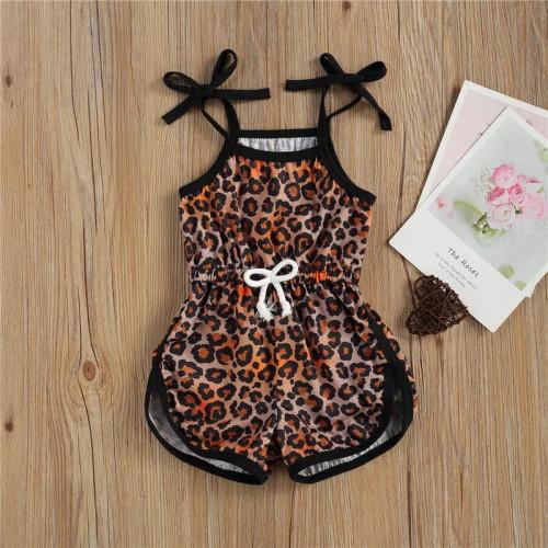 Leopard Bow Jumpsuit