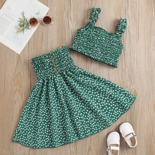 Floral Tight Sling Dress Set