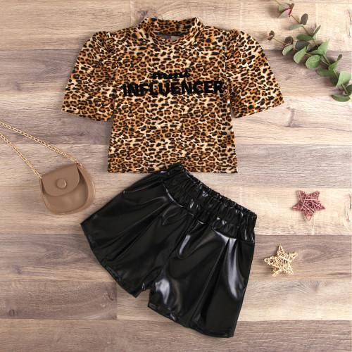 2pcs Leopard Letter Set