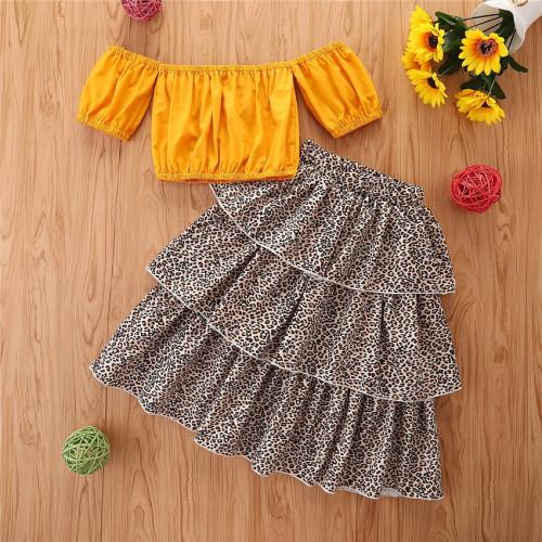 2pcs Floral Print Skirt Set