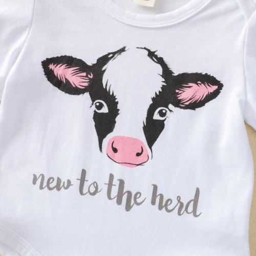 3pcs Baby Cow Print Set