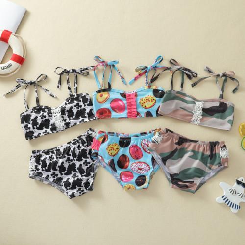 2pcs Floral Swimsuit