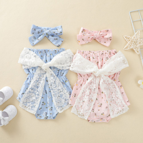 Baby Lace Floral Romper