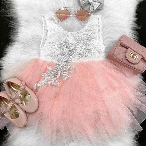 Lace Floral Mesh Dress