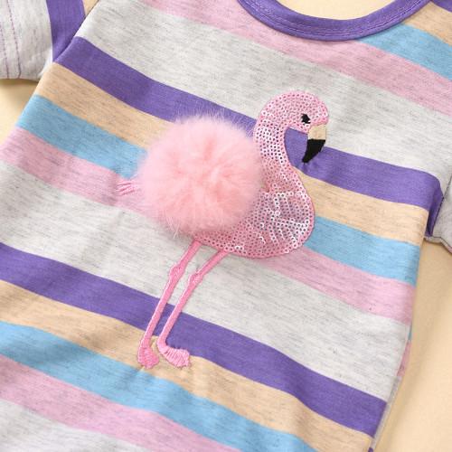 2pcs Stripe Flamingo Set