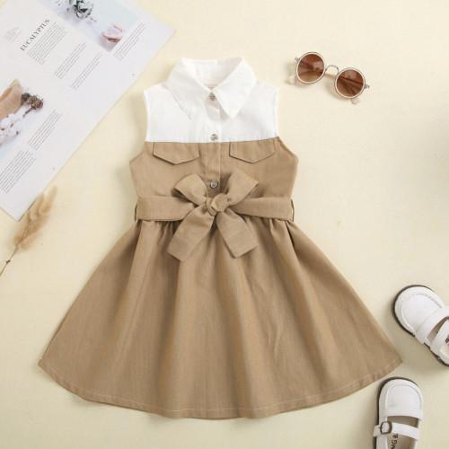 Plain Classes Bow Dress