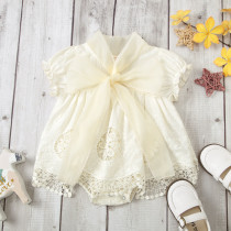 Lace Bow Romper
