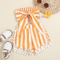 2pcs Stripe Bow Set